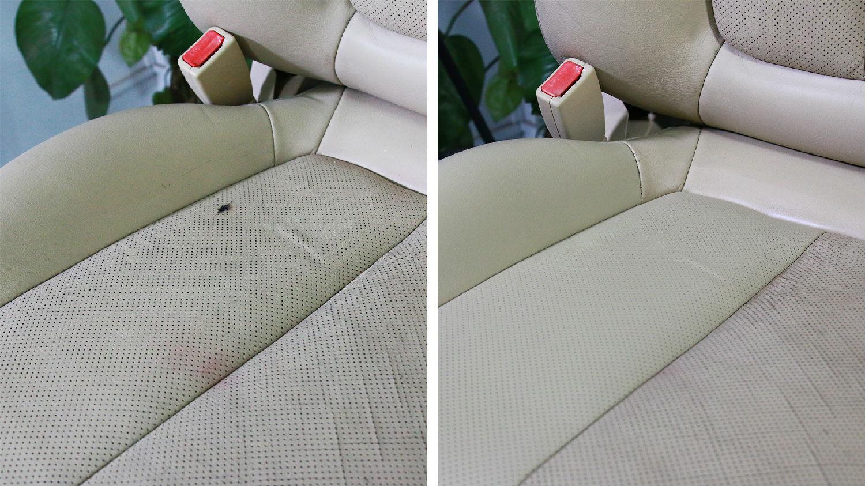 汽车真皮座椅被烟头烫了怎么办?好威可以帮你解决